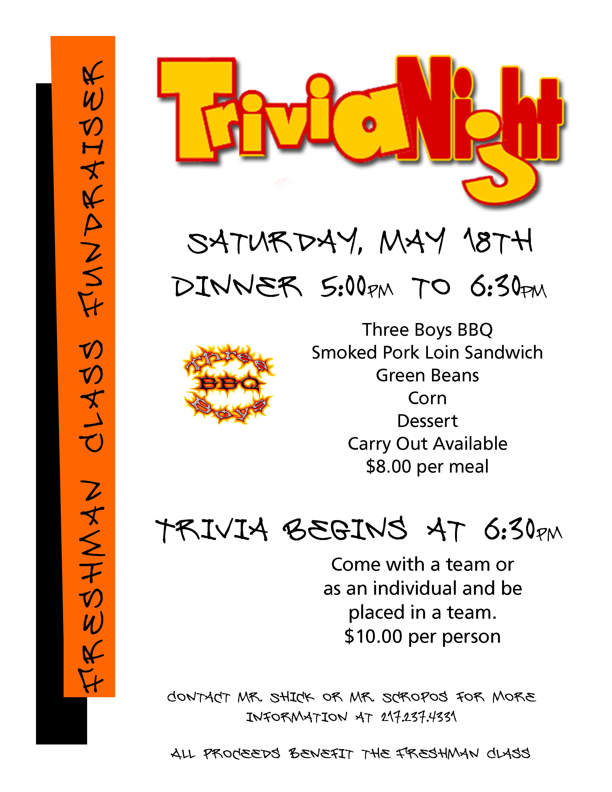 trivia night flyer templates download