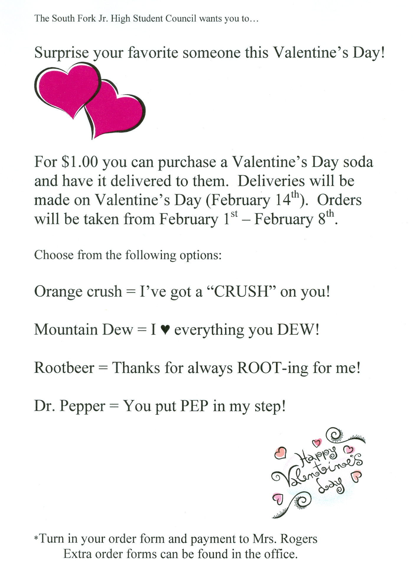 South Fork School District 14 - JH Student Council Valentines Day Gifts